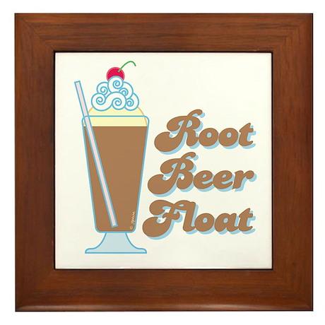 Rootbeer Float Framed Tile