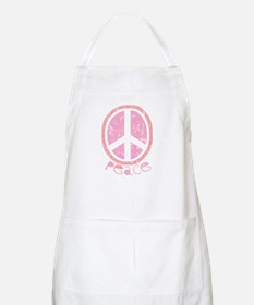 Girly Pink Peace Sign BBQ Apron