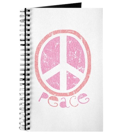 Girly Pink Peace Sign Journal