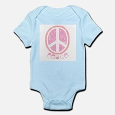 Girly Pink Peace Sign Infant Creeper