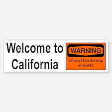 Warning: CA Leadership Bumper Bumper Bumper Sticker