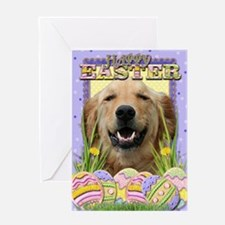 Easter Egg Cookies - Golden Greeting Card