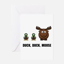 Duck Duck Moose Greeting Card