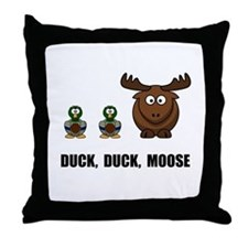 Duck Duck Moose Throw Pillow