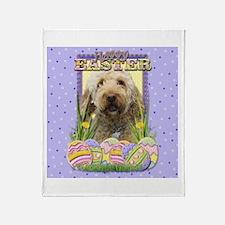 Easter Egg Cookies - GoldenDoodle Throw Blanket