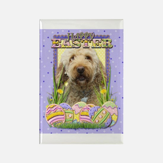 Easter Egg Cookies - GoldenDoodle Rectangle Magnet