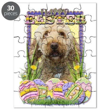 Easter Egg Cookies - GoldenDoodle Puzzle