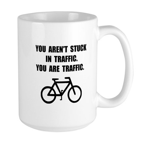 Bike Traffic Large Mug