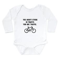 Bike Traffic Long Sleeve Infant Bodysuit