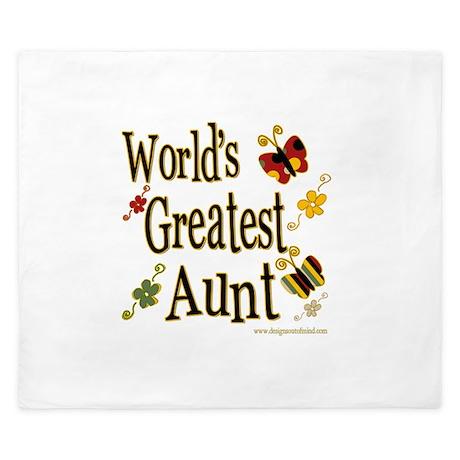 Aunt Butterflies King Duvet