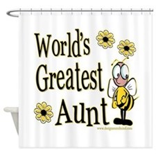 Aunt Bumble Bee Shower Curtain