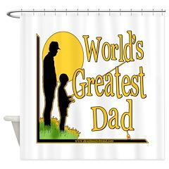 Best Dad Fishing Shower Curtain