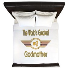 Number 1 Godmother King Duvet