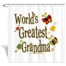 Grandma Butterflies Shower Curtain