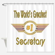 Number 1 Secretary Shower Curtain