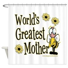 Mother Bumble Bee Shower Curtain