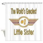 Number 1 Little Sister Shower Curtain