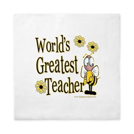 Teacher Bumble Bee Queen Duvet