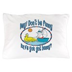 Bunny, Duck and Boat Pillow Case