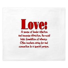 Love Definition King Duvet