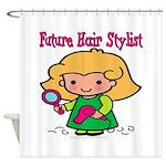 Future Hair Stylist Shower Curtain