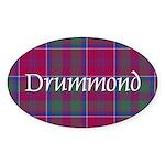 Tartan - Drummond Sticker (Oval 50 pk)