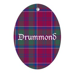 Tartan - Drummond Ornament (Oval)