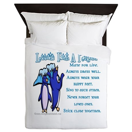 Lessons from a penguin Queen Duvet