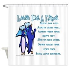 Lessons from a penguin Shower Curtain