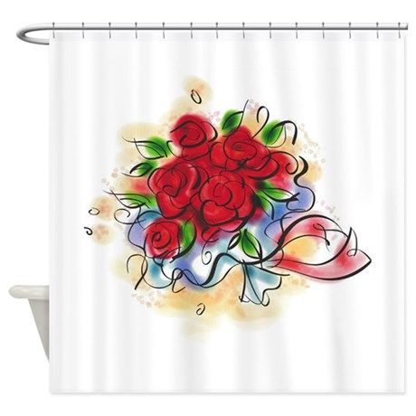 Bright Florals Shower Curtain