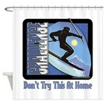 Skier Challenge Shower Curtain