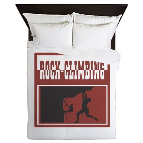 Rock Climbing Queen Duvet