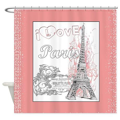 I Love Paris Shower Curtain