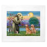 St Francis - Two Goldens King Duvet