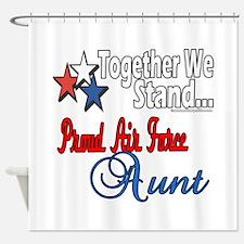 Proud Air Force Aunt Shower Curtain