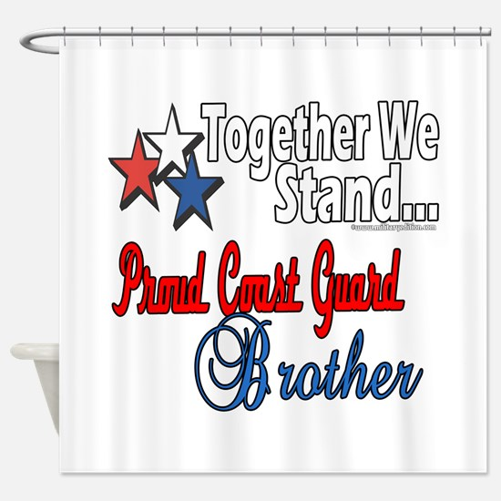 Coast Guard Brother Shower Curtain