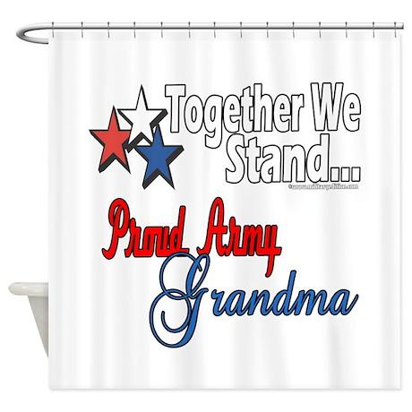 Army Grandma Shower Curtain