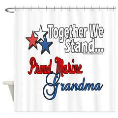 Marine Grandmother Shower Curtain