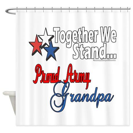 Army Grandpa Shower Curtain