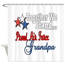 Air Force Grandpa Shower Curtain