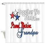 Marine Grandpa Shower Curtain