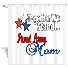 Proud Army Mom Shower Curtain