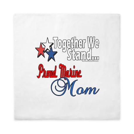 Proud Marine Mom Queen Duvet