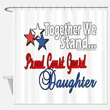 Proud Coast Guard Daughter Shower Curtain