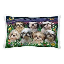 7 Shih Tzus in Moonlight Pillow Case