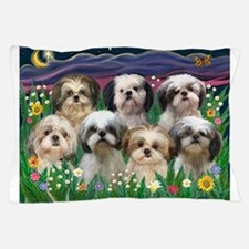 7 Shih Tzus in Moonlight Pillow Case