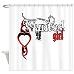 Wanted Girl Shower Curtain
