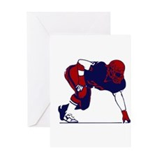 FOOTBALL [6 red/navy] Greeting Card