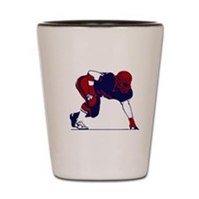 FOOTBALL [6 red/navy] Shot Glass