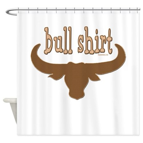 Bull Shirt Shower Curtain